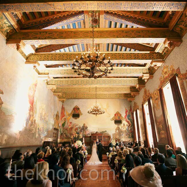 Santa barbara county courthouse wedding for Mural room santa barbara courthouse