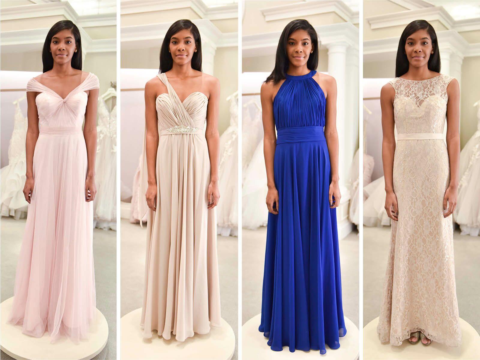 Unique Muted Pastel Bridesmaid Dresses
