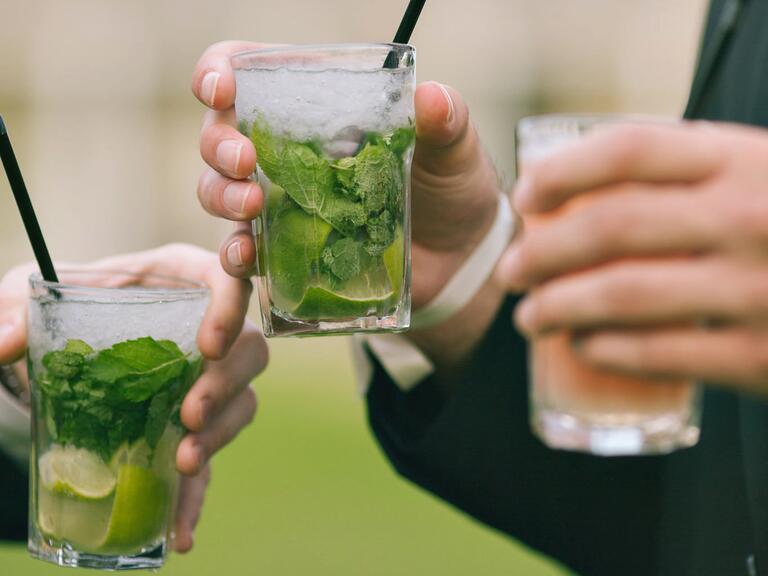 Wedding reception cocktail drinks