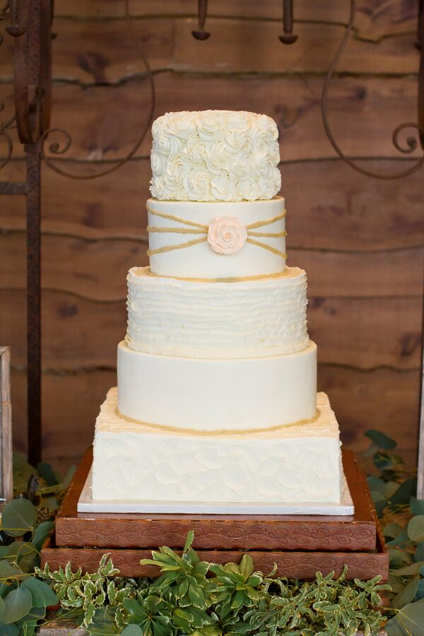 Five-Tiered Buttercream Wedding Cake