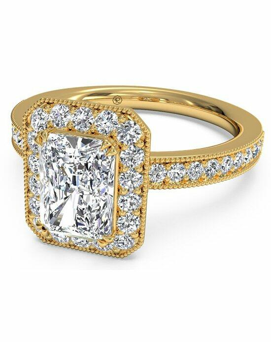 Ritani Radiant Cut Vintage Halo Diamond Engagement Ring with Surprise Diamonds in 18kt Yellow Gold (0.40 CTW) Engagement Ring photo
