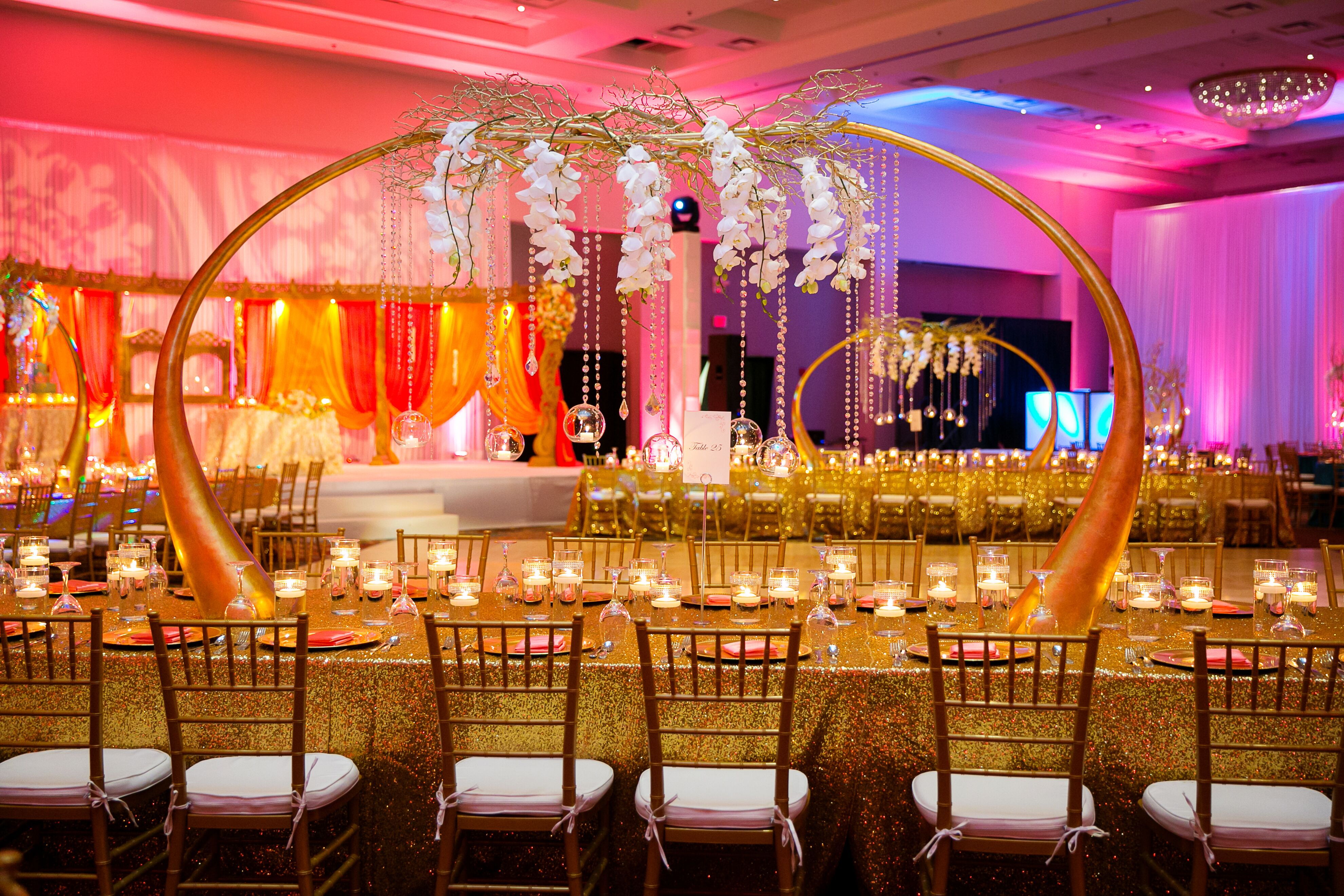 Towering Gold Tusk Branch Luxe Centerpieces