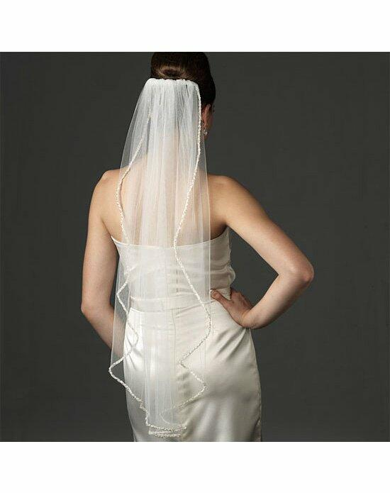 USABride 1 Layer, Pearl & Swarovski Beaded Edge VB-478 Wedding Veils photo