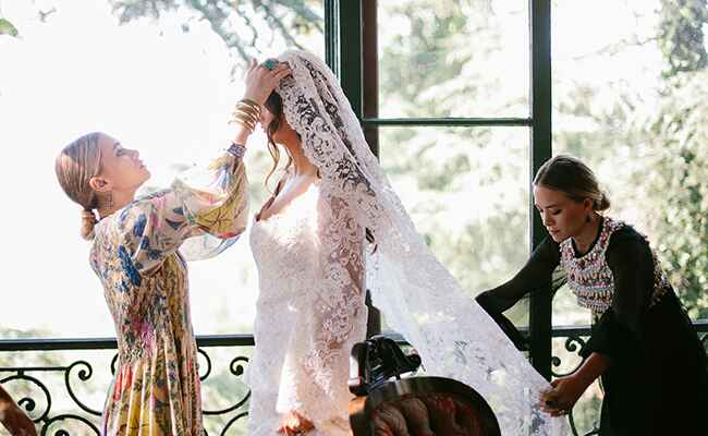 Mary-Kate Olsen Wedding Dress: Heather Kincaid / TheKnot.com