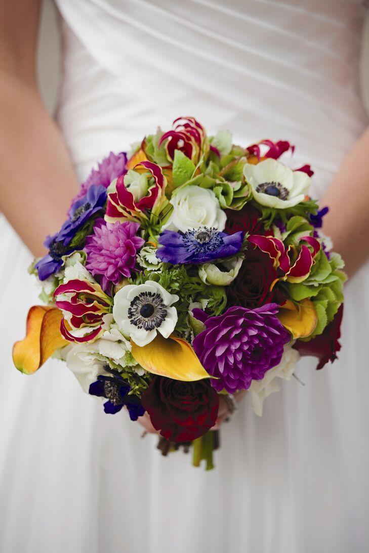 Bouquet da sposa dai colori vivaci-1043