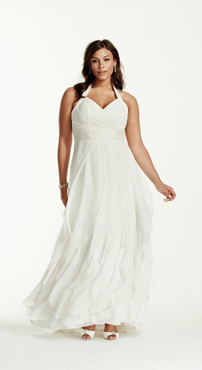 Wedding Beachy Wedding Dresses beach wedding dresses a complete guide davids bridal halter dress with ruffles plus size dress