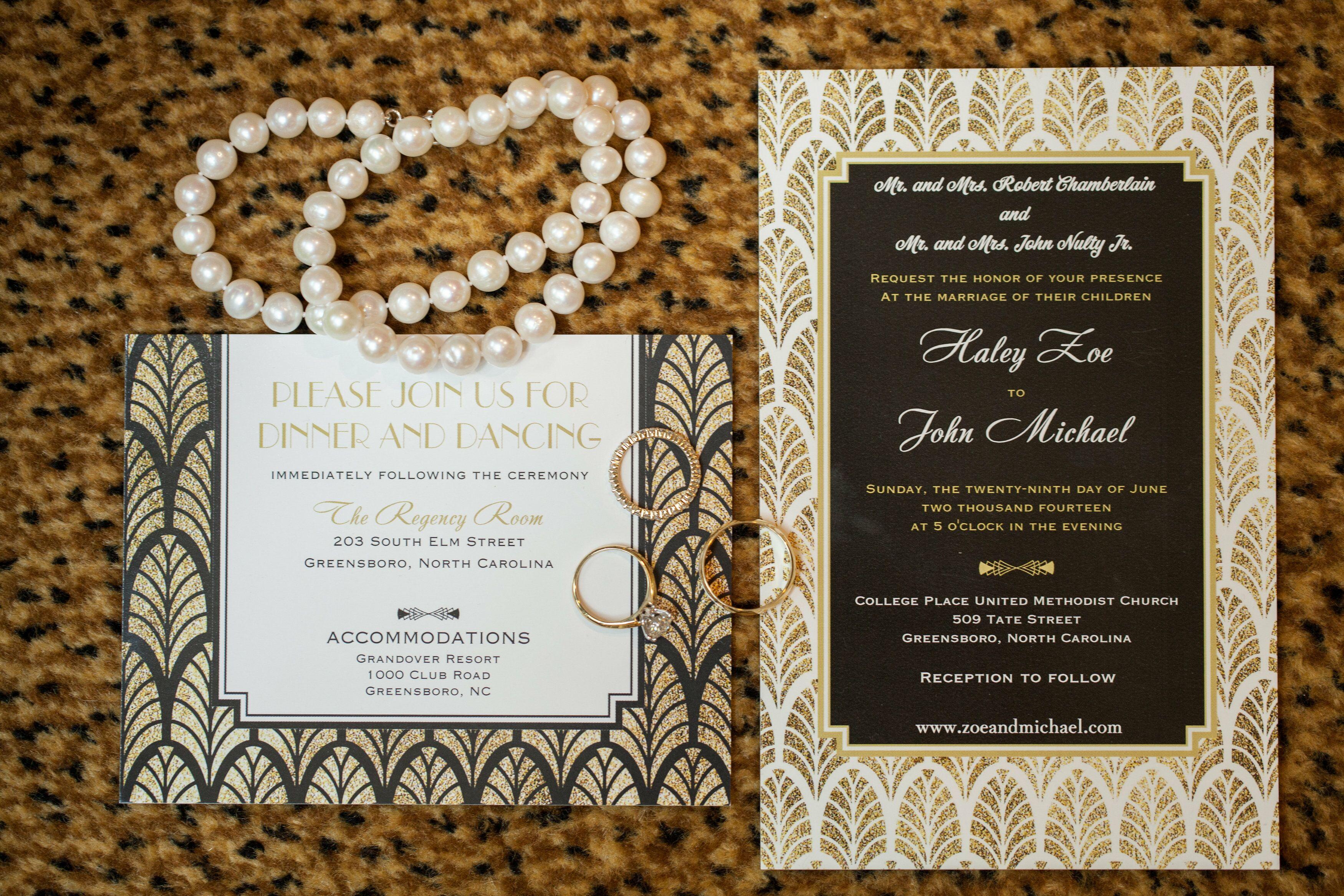 Deco Wedding Invitations: Art Deco-Inspired Wedding Invitations
