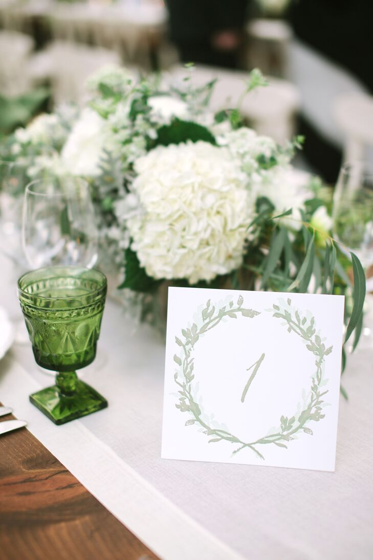 Olive Branch Motif Table Numbers