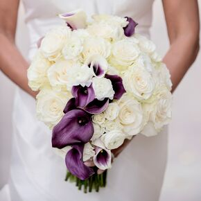 Purple wedding bouquets purple and white bouquet mightylinksfo