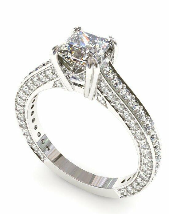 Enchanted Diamonds Pave Cathedral Double-Prong  PV14-4W-S Engagement Ring photo