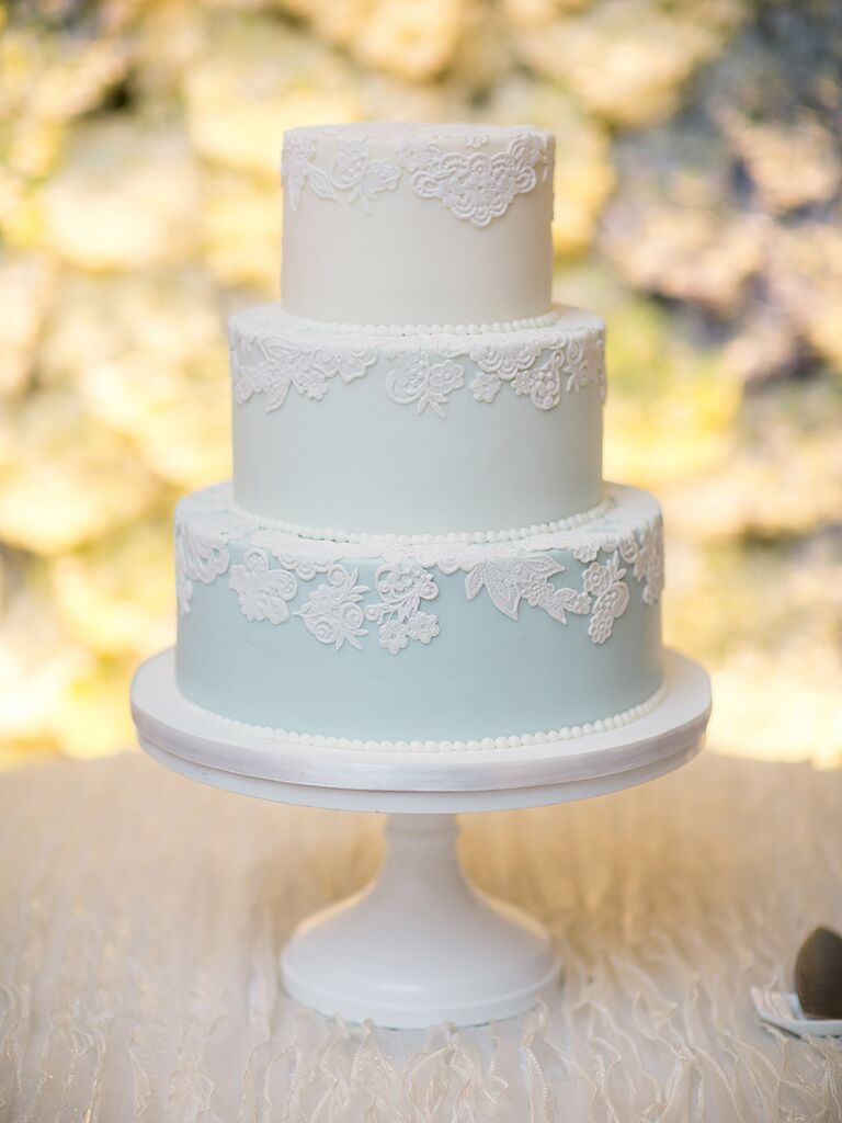 Simple and unique wedding cake inspiration blue pastel ombr simple wedding cake junglespirit Image collections