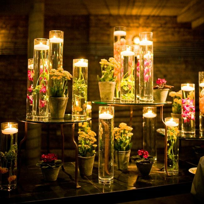 Floating Candles Centerpieces Ideas For Weddings: The Centerpieces