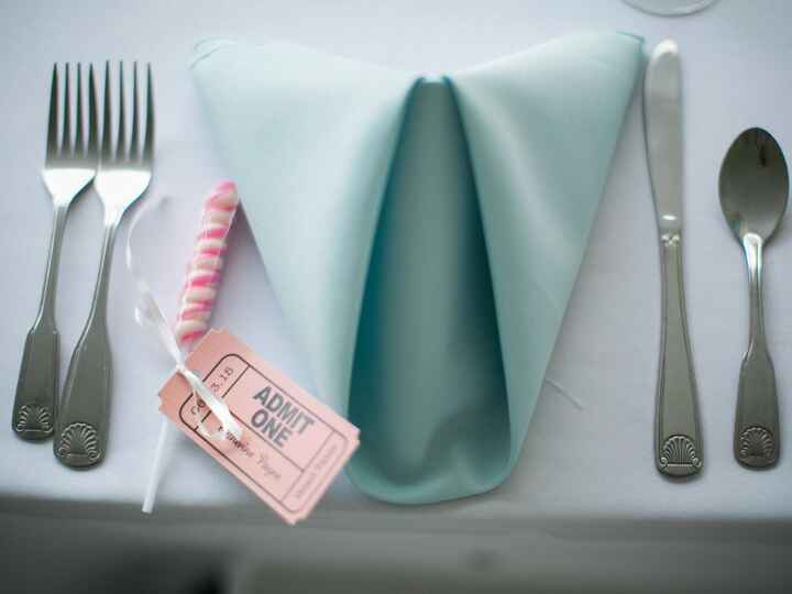 Table setting for one at a wedding