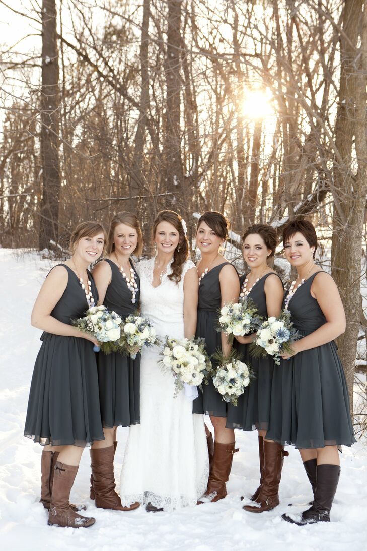 Charcoal kennedy blue bridesmaid dresses ombrellifo Choice Image