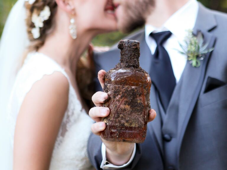 """Bury the bourbon"" Southern wedding tradition."