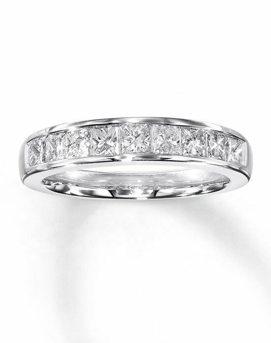 Kay Jewelers Diamond Anniversary Band 14K White Gold Princess Cut 1ct tw -531829606 Wedding Ring photo