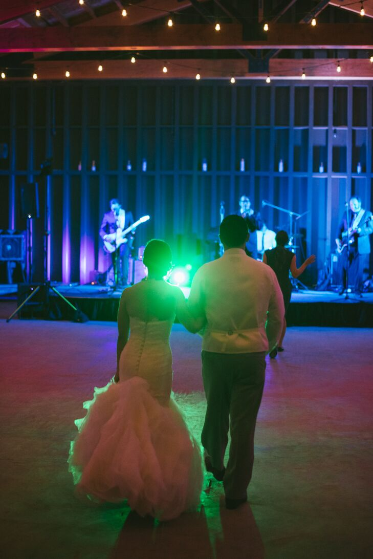 Bride and Groom First Dance with Band