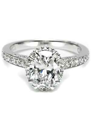 Tacori oval cut engagement ring