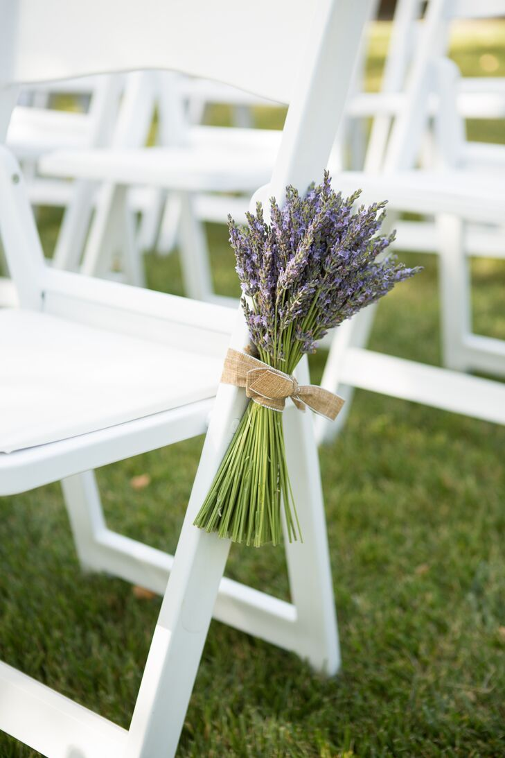 Lavender Bunch Ceremony Aisle Decor