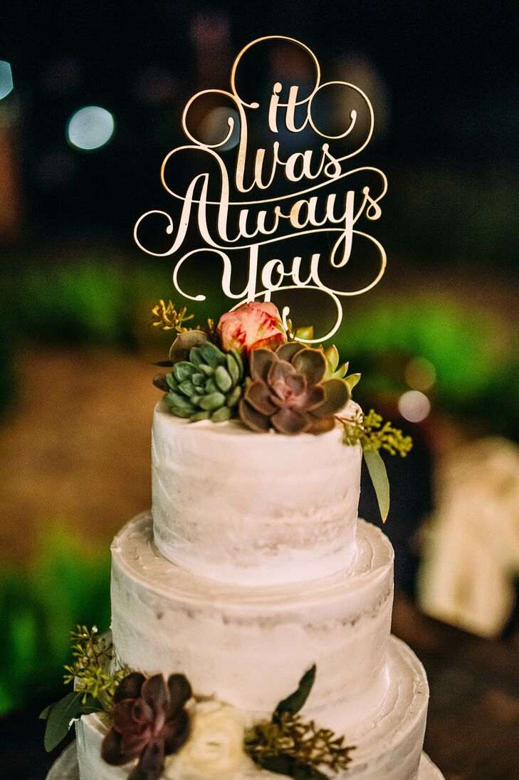 it was always you calligraphy cake topper