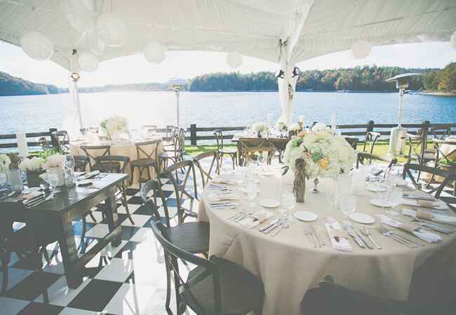 Rustic Reception Space | The Shultzes | The Knot Blog