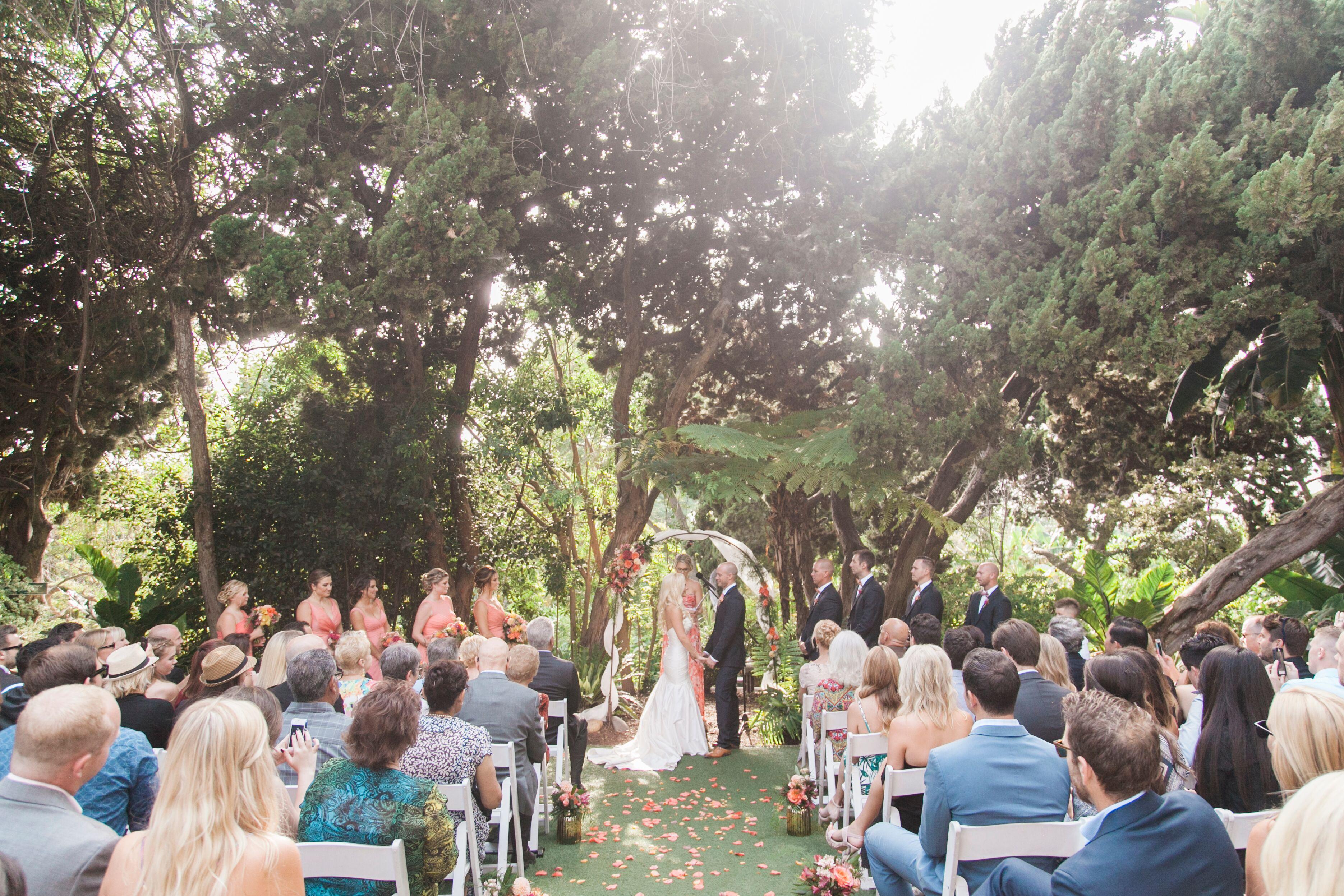 Outdoor Wedding Ceremony At San Diego Botanic Gardens
