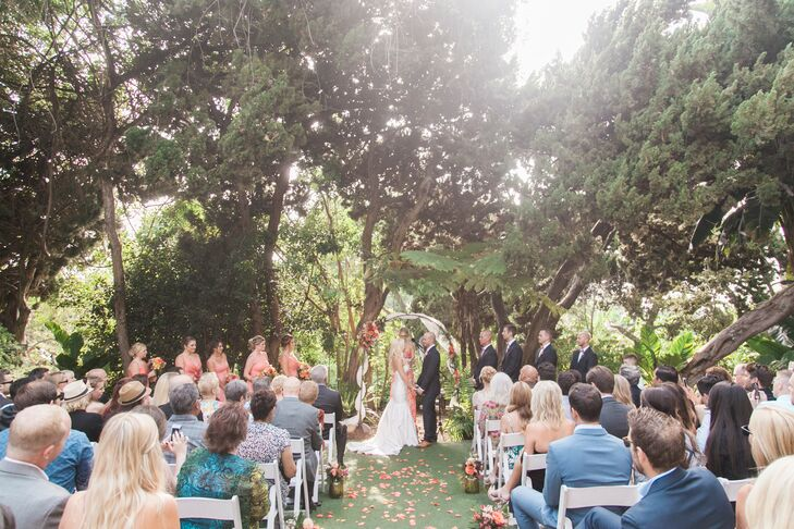 A Glamorous Garden Wedding At San Diego Botanic Garden In Encinitas,  California
