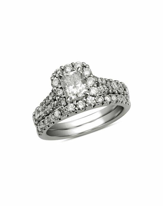 Zales 1-1/2 CT. T.W. Certified Radiant-Cut Diamond Bridal Set in 14K White Gold (H-I/I1)  19549401 Engagement Ring photo