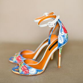 Blue wedding shoes dolce gabbana hand painted heels junglespirit Image collections