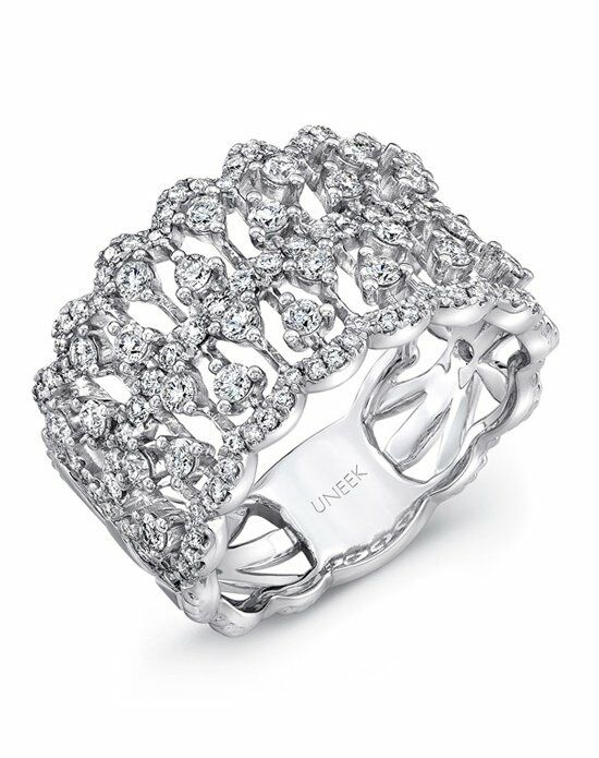Uneek Fine Jewelry The Coralline Open Lace Diamond Band/LVBW322W Wedding Ring photo