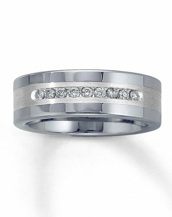 Kay Jewelers Tungsten/SSLV 1/4ct men's diamond ring-50966009 Wedding Ring photo