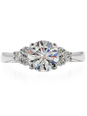 Hearts On Fire three stone engagement ring