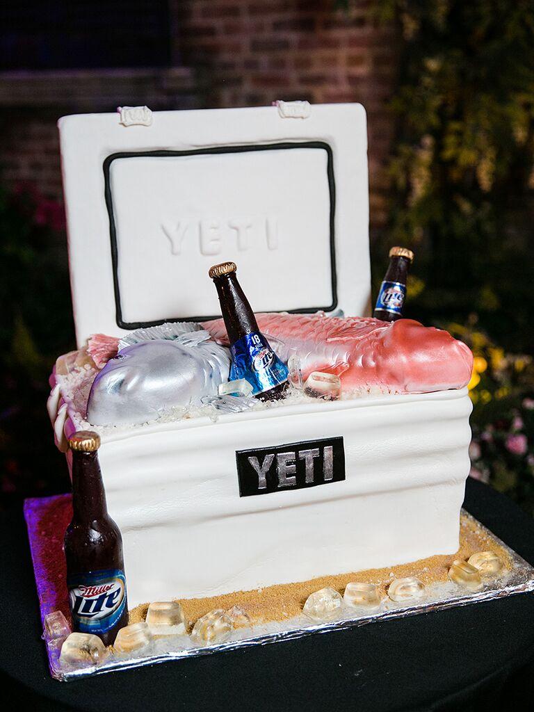 17 epic grooms cake ideas yeti cooler grooms cake junglespirit Gallery
