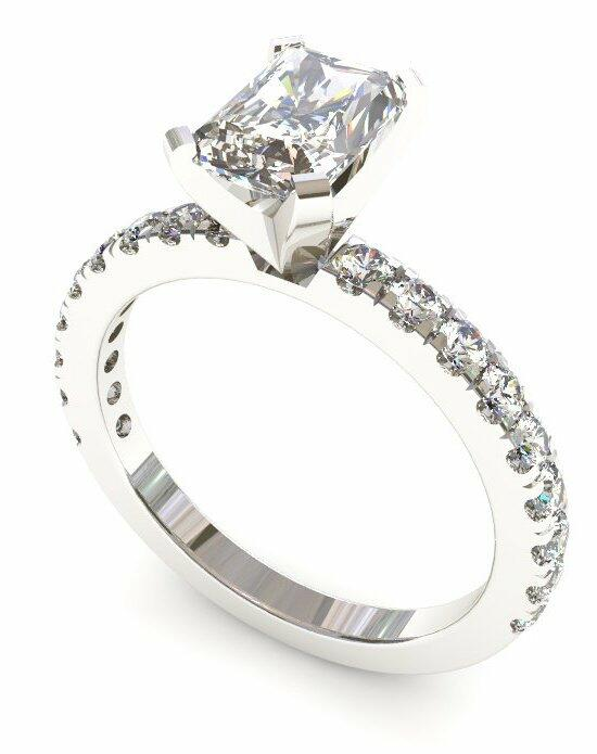 Enchanted Diamonds Pave‎ Petite Radiant PV6-4W-D Engagement Ring photo