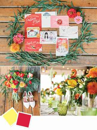 Bright summer wedding color inspiration