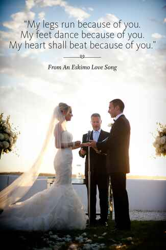Eskimo Love Song wedding ceremony reading
