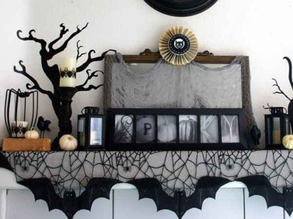 See the 12 most inspirational Halloween mantels that are trending on Pinterest right now.
