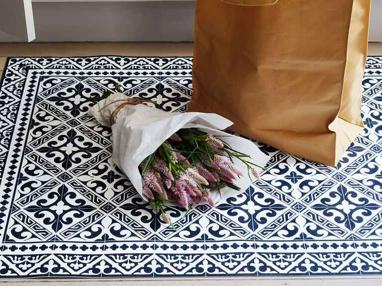 Food52 Mediterranean Vinyl Kitchen Mat cool wedding gifts