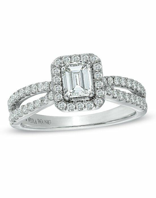 Vera Wang LOVE at Zales Vera Wang LOVE Collection - 1  CT. T.W. Emerald-Cut Diamond  Frame  Engagement Ring in 14K White Gold  19969912 Engagement Ring photo