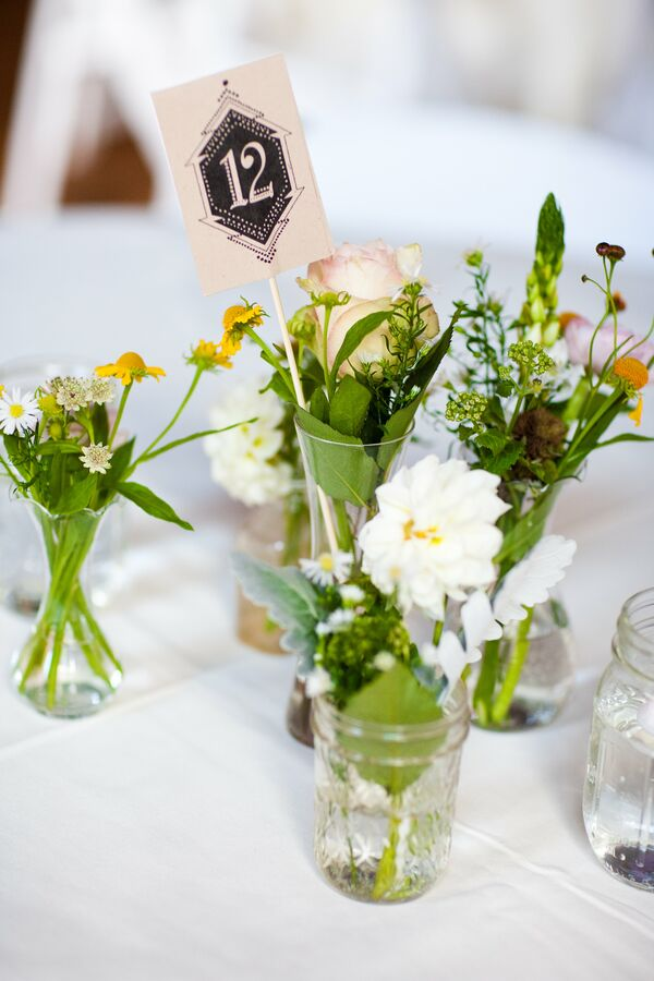 Simple Wildflower Centerpieces
