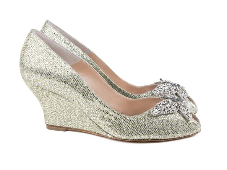 Aruna Seth Gold And Silver Wedding Wedges