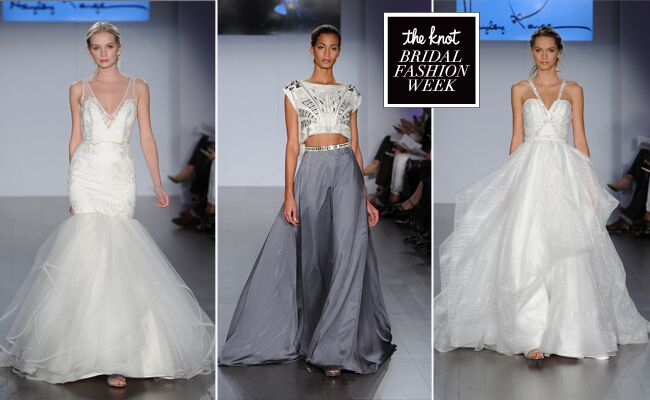 Hayley Paige Wedding Dresses Use Leather and Studs for Spring 2015