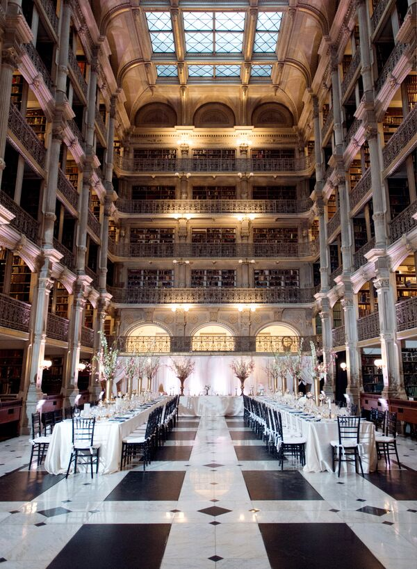 Glamorous Reception at Baltimore's George Peabody Library