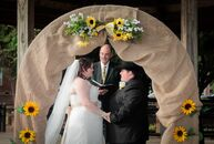 Alisha Tinker (22 and a pharmacy technician) and Cody Smith (24 and an EMT) had a simple Southern wedding full of sunflowers and cowboy boots. The Gwi
