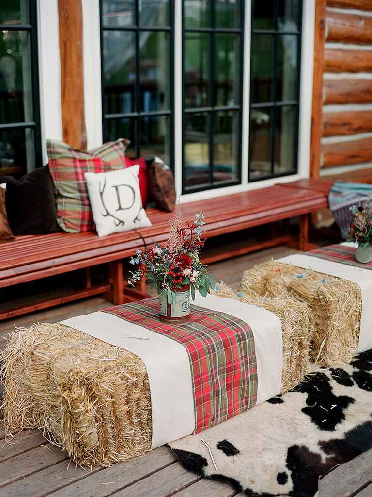 Lounge idea for a rustic camp wedding