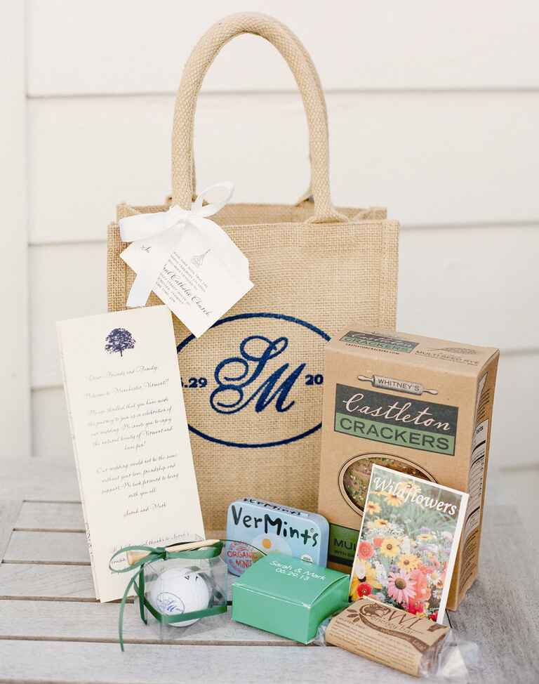 Our favorite wedding welcome bag ideas for Gift with purchase ideas