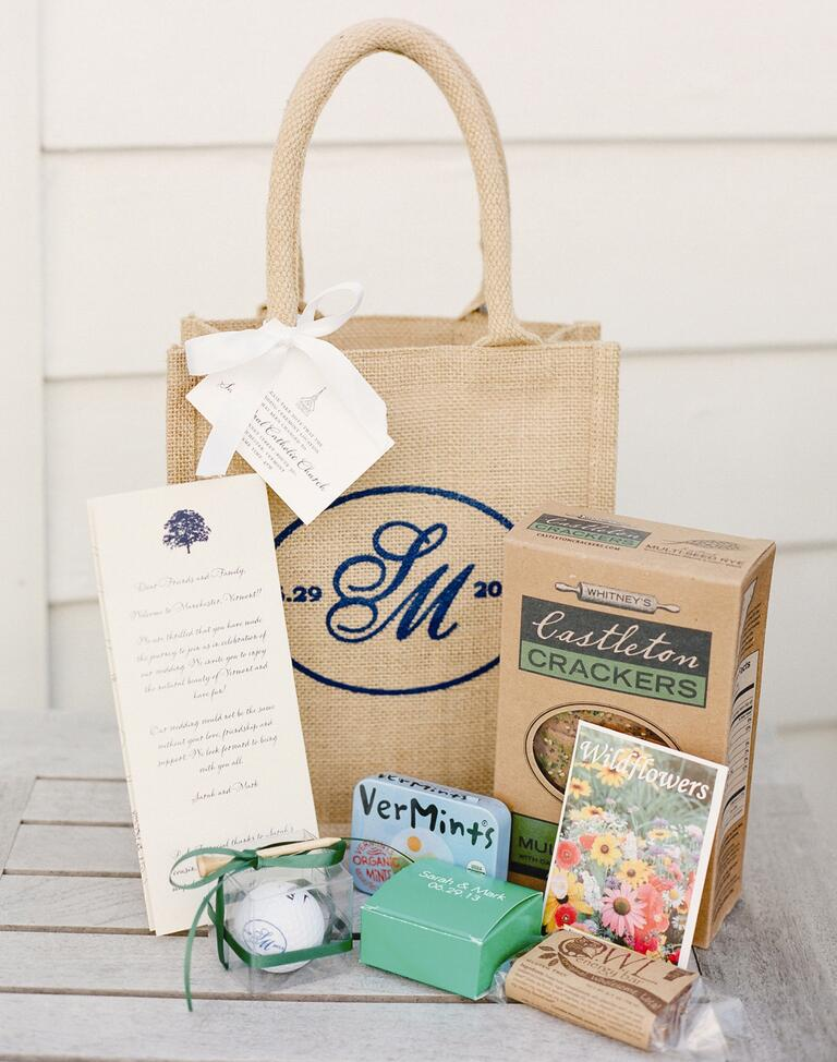 Cheap Wedding Gift Bag Ideas : ... destination wedding guest bags as minimalist design stunning wedding
