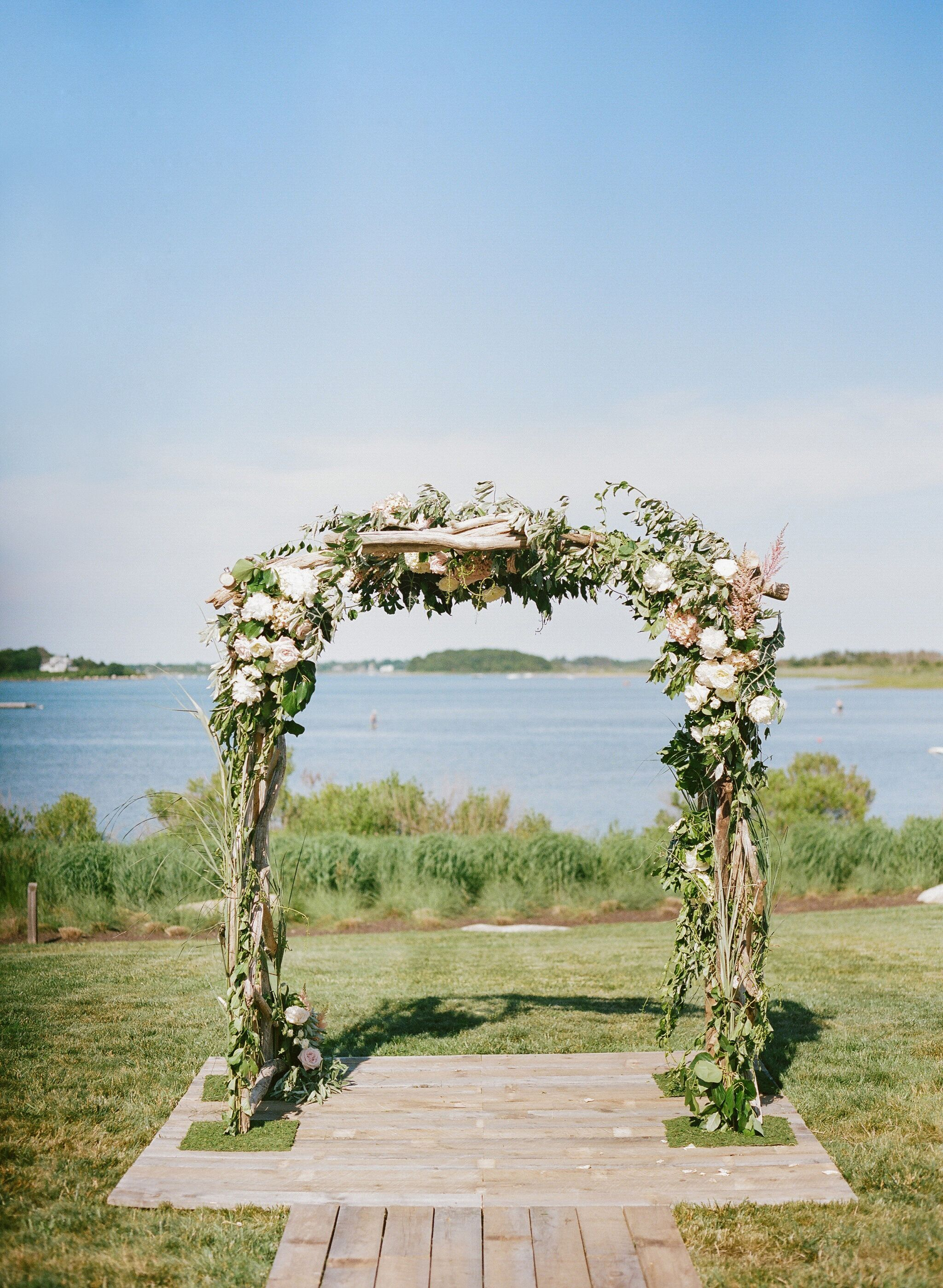 Flower And Greenery Wedding Ceremony Arch