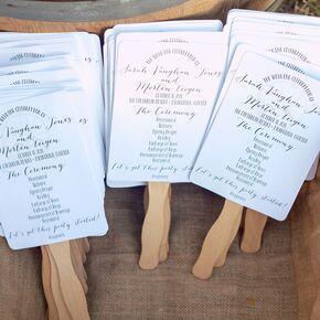 Glamorous Fan Wedding Programs