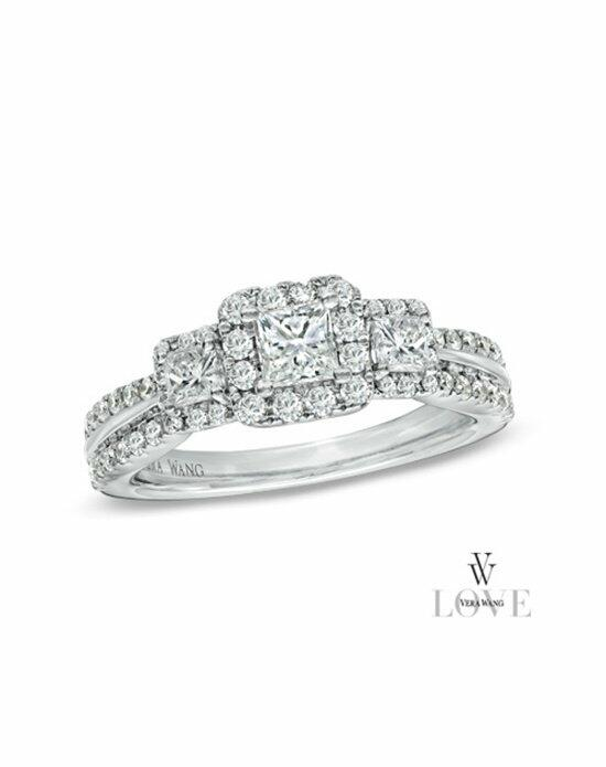 Vera Wang LOVE at Zales Vera Wang LOVE Collection 1 CT. T.W. Princess-Cut Diamond Three Stone Engagement Ring in 14K White Gold  19502178 Engagement Ring photo